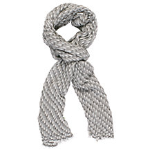 Buy Chesca Cashmere Bark Weave Scarf, Silver/Ivory Online at johnlewis.com