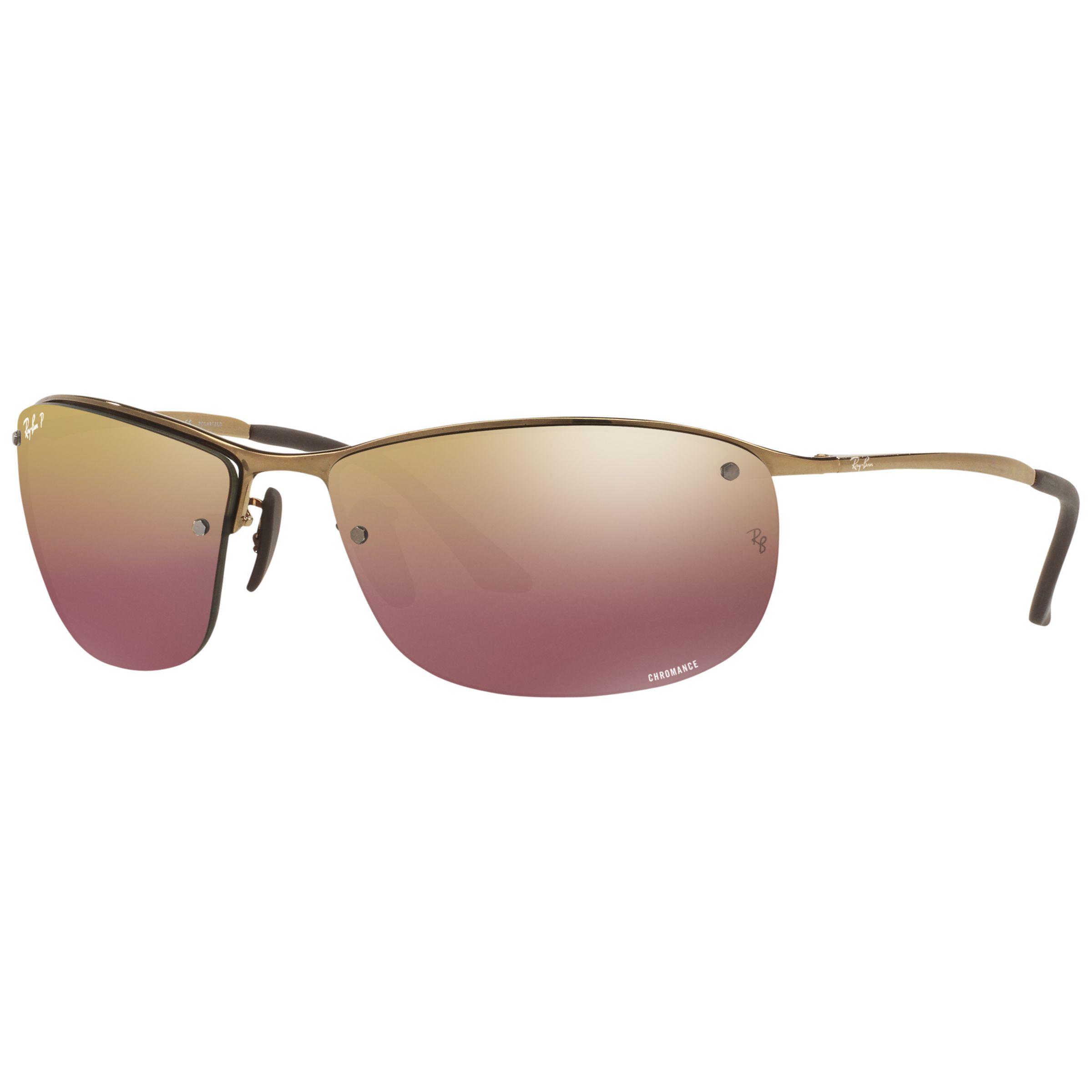 129af4c6b7 Ray-Ban RB3542 Polarised Chromance Rectangular Sunglasses at John Lewis    Partners