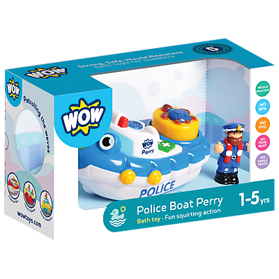 WOW Toys Police Boat Perry