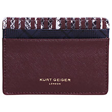 Buy Kurt Geiger Saffiano Leather Card Holder, Wine Online at johnlewis.com
