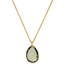 Buy John Lewis Gemstones Organic Shape Quartz Pendant Necklace, Gold/Khaki Online at johnlewis.com