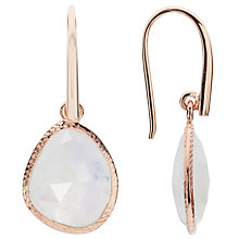 Buy John Lewis Gemstones Rainbow Moonstone Drop Hook Earrings, Rose Gold/Multi Online at johnlewis.com