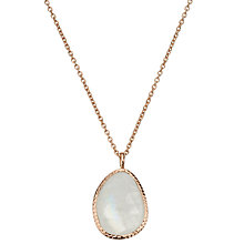 Buy John Lewis Gemstones Organic Shape Rainbow Moonstone Pendant Necklace, Rose Gold/Multi Online at johnlewis.com