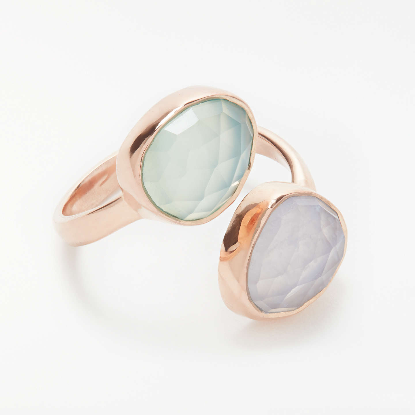 BuyJohn Lewis Semi-Precious Stone Ring, Aqua Chalcedony/Lace Agate Online at johnlewis.com