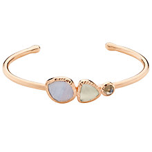 Buy John Lewis Gemstones Multi Stone Open Cuff, Rose Gold/Multi Online at johnlewis.com