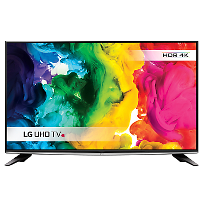 LG 50UH635V LED HDR 4K Ultra HD Smart TV, 50 with Freeview HD, Freesat HD & Metallic Design, Black & Silver