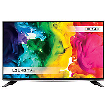 "Buy LG 50UH635V LED HDR 4K Ultra HD Smart TV, 50"" with Freeview HD, Freesat HD & Metallic Design, Black & Silver Online at johnlewis.com"
