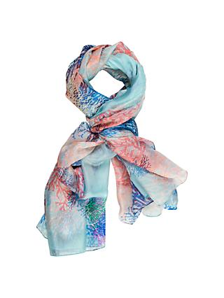 Chesca Branch Printed Scarf, Multi