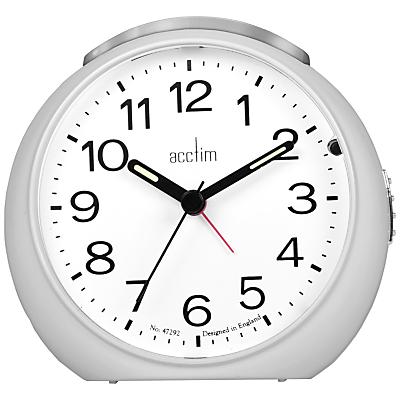 Acctim Abella Alarm Clock, Silver