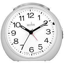 Buy Acctim Abella Alarm Clock, Silver Online at johnlewis.com