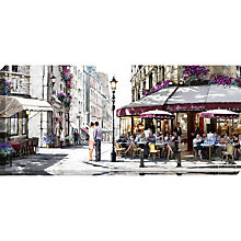 Buy Richard Macneil - Cafe In Paris Canvas Print, 135 x 60cm Online at johnlewis.com