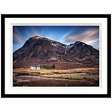Buy Matthew Wilkinson - Etive Mor Cottage Framed Print, 84 x 64cm Online at johnlewis.com