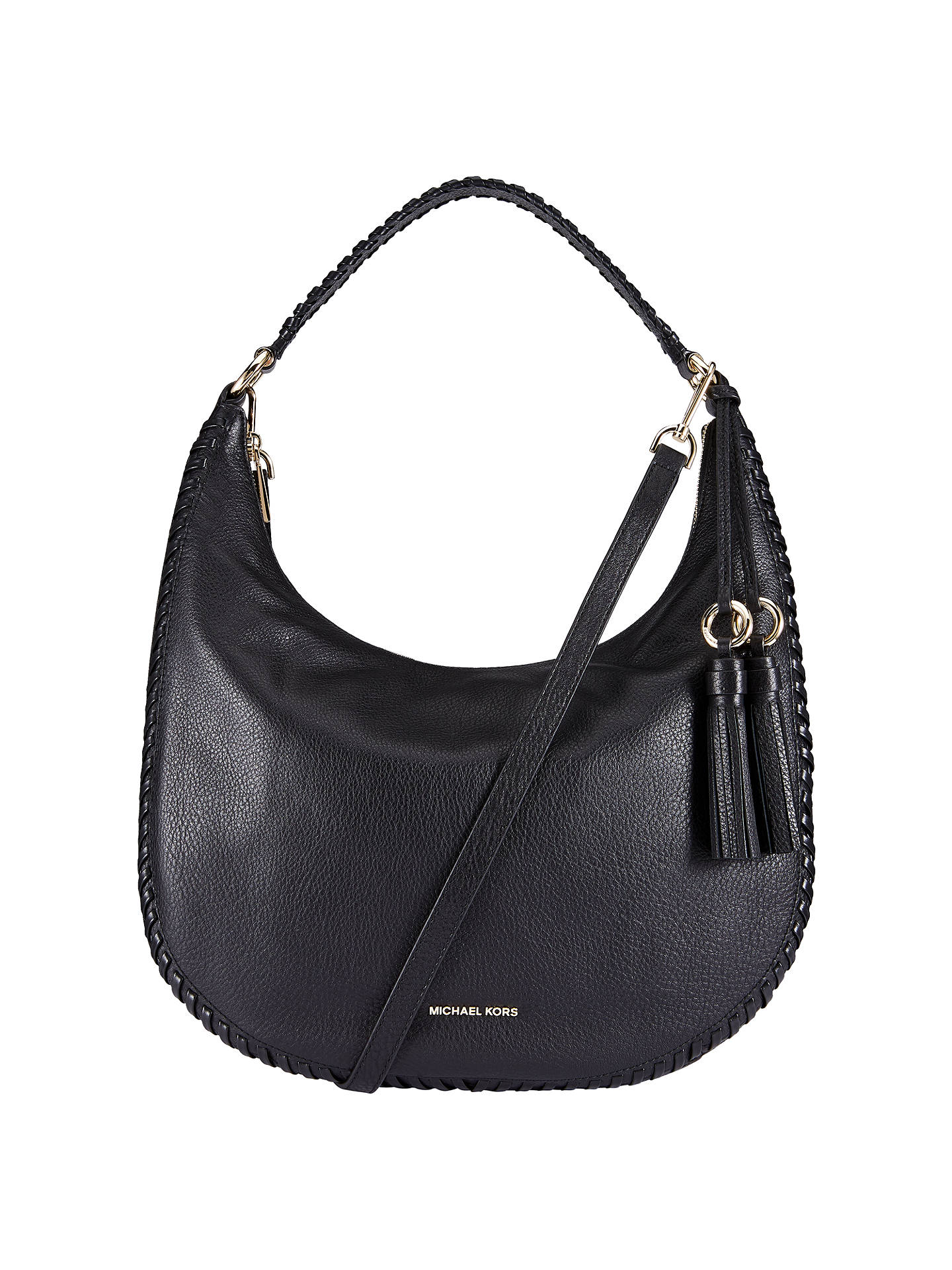 af175e206849 MICHAEL Michael Kors Lauryn Leather Large Shoulder Bag at John Lewis ...