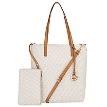 Buy MICHAEL Michael Kors Hayley Large Leather North / South Tote Bag Online at johnlewis.com