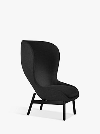 Doshi Levien for John Lewis Open Home Nami High Back Armchair, Black Leg