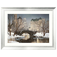 Buy Rod Chase - Winter Central Park Framed Print, 86 x 112cm Online at johnlewis.com