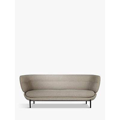 Doshi Levien for John Lewis Open Home Pondok Large 3 Seater Sofa, Black Leg