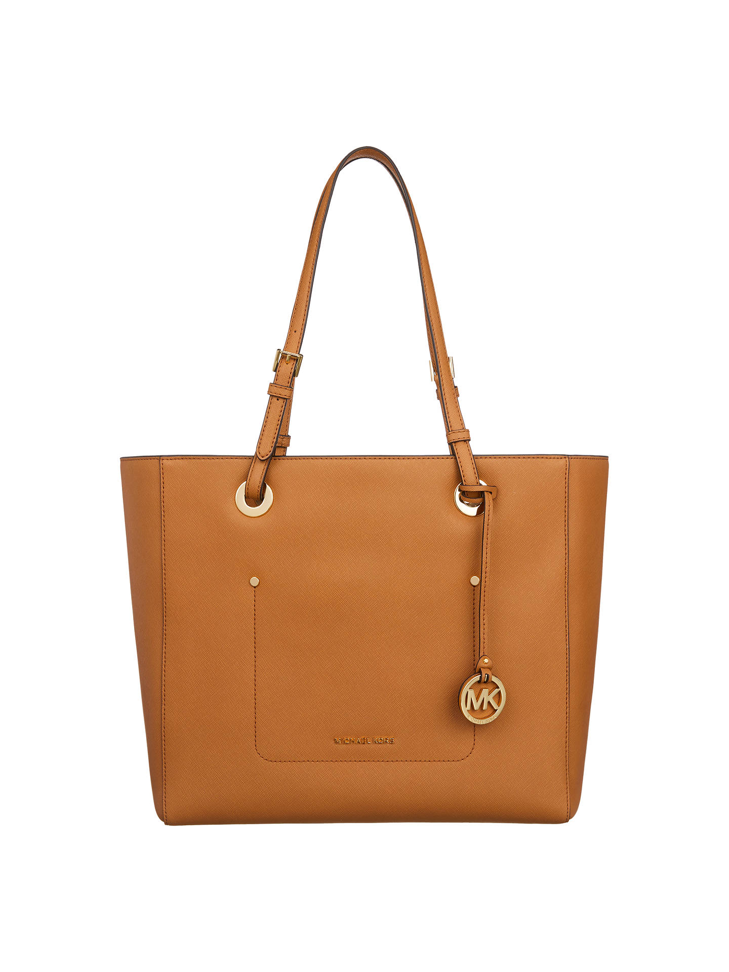 d55b1663f54d Buy MICHAEL Michael Kors Walsh Leather Large East / West Tote Bag, Acorn  Online at ...