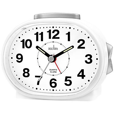 Image of Acctim Lila Sweep Alarm Clock, White