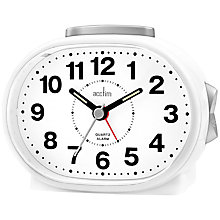 Buy Acctim Lila Sweep Alarm Clock, White Online at johnlewis.com