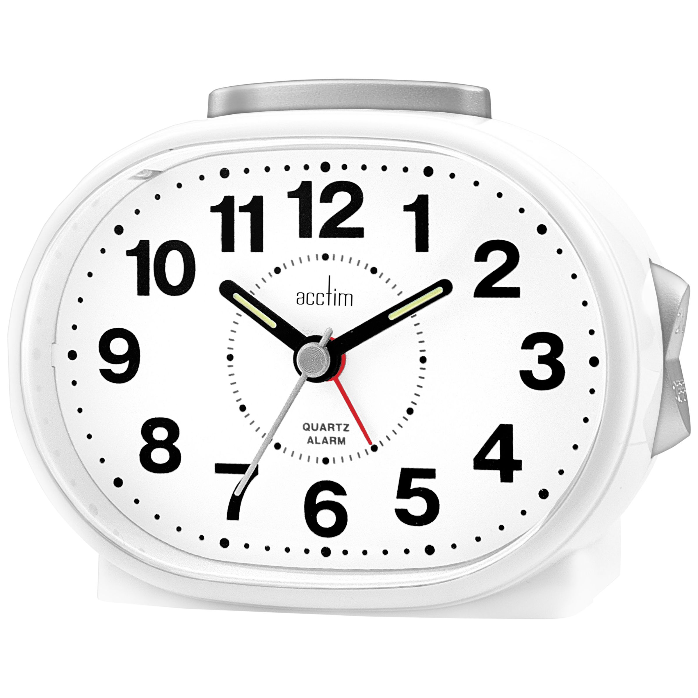 Acctim Acctim Lila Sweep Alarm Clock, White
