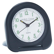 Buy London Clock Company Flip Alarm Travel Clock, Black Online at johnlewis.com