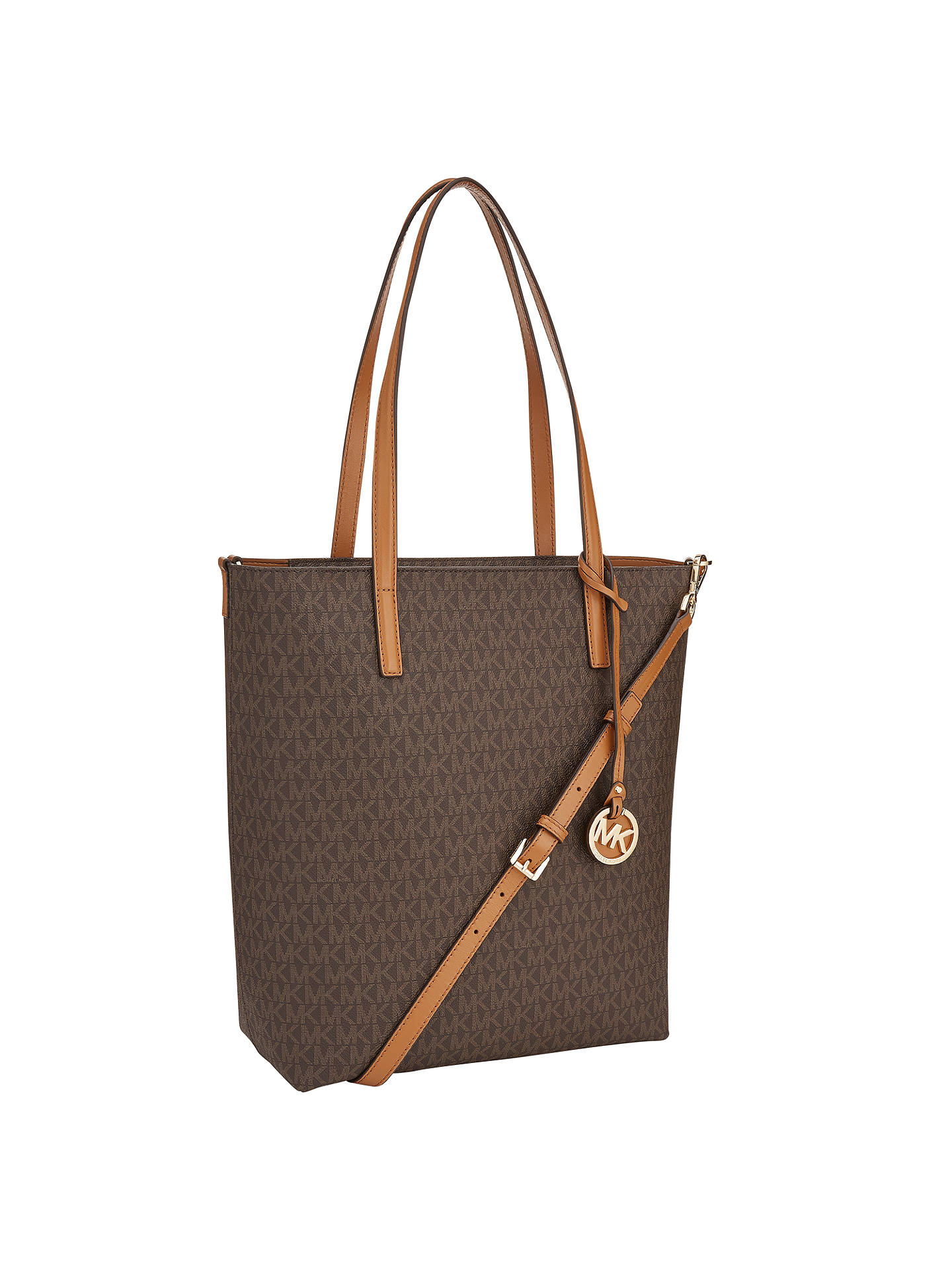 c1beacf7b40821 ... Buy MICHAEL Michael Kors Hayley Large Leather North / South Tote Bag,  Brown / Acorn