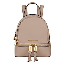 Buy MICHAEL Michael Kors Rhea Extra Small Leather Backpack Online at johnlewis.com
