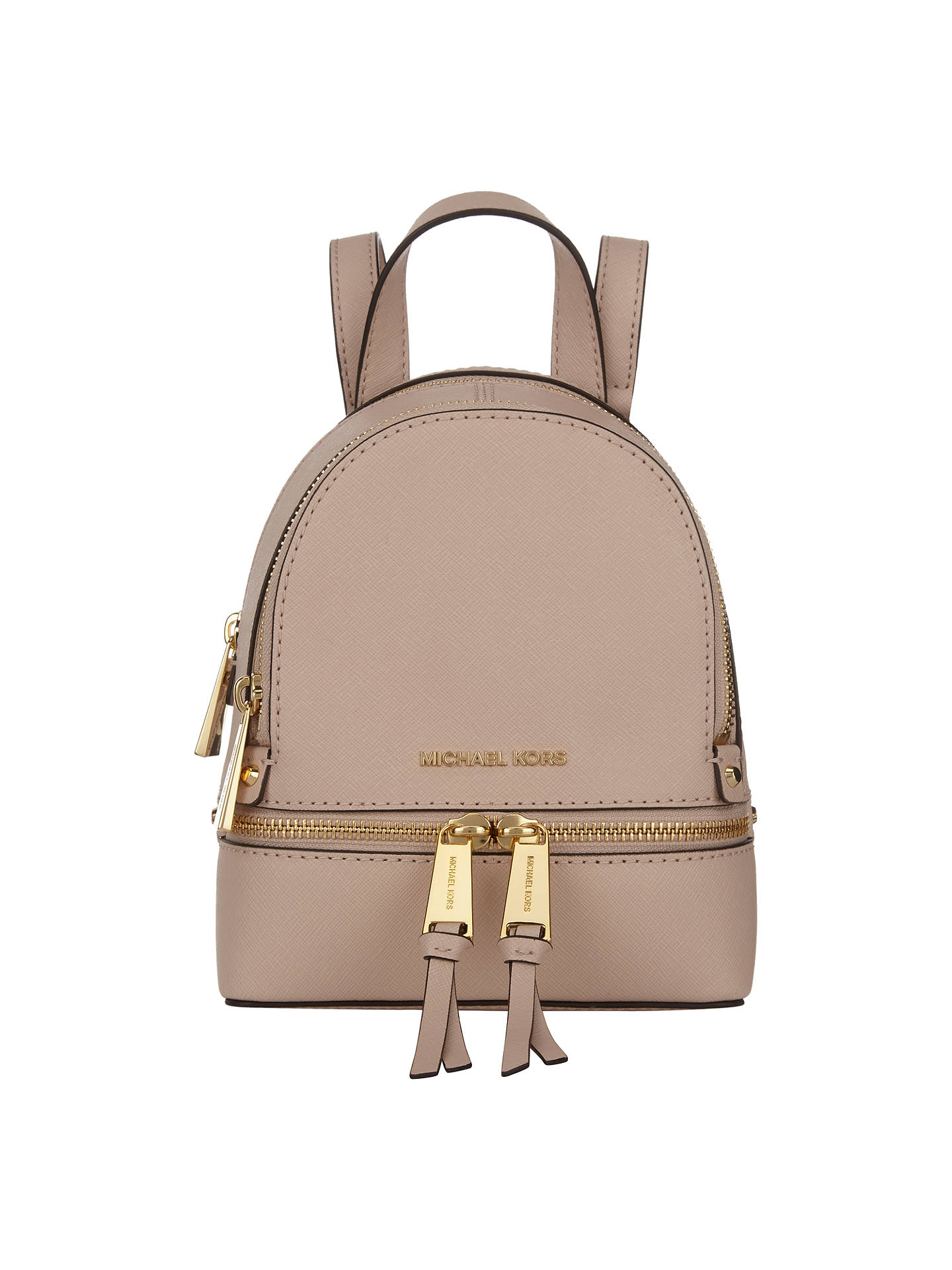 ea9a7f36aaab ... new zealand buymichael michael kors rhea extra small leather backpack  soft pink online at johnlewis b235a ...