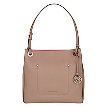 Buy MICHAEL Michael Kors Walsh Leather Medium Shoulder Bag Online at johnlewis.com
