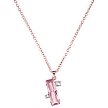 Buy Ted Baker Bleake Crystal Baguette Pendant Necklace, Rose Gold Online at johnlewis.com