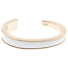 Buy Karen Millen Contrast Contour Cuff, Rose Gold/White Online at johnlewis.com