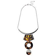 Buy Adele Marie Large Drop Pendant Necklace, Silver/Tortoiseshell Online at johnlewis.com