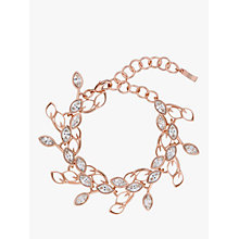Buy Ted Baker Wisia Swarovski Crystal Wisteria Bracelet, Rose Gold Online at johnlewis.com
