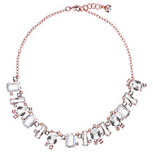 Buy Ted Baker Crystal Baguette Pendant Necklace, Rose Gold Online at johnlewis.com