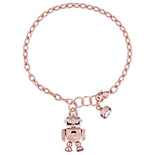 Buy Ted Baker Beta Robot Charm Bracelet, Rose Gold Online at johnlewis.com