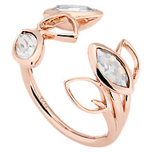 Buy Ted Baker Vipaa Swarovski Crystal Wisteria Ring, Rose Gold Online at johnlewis.com