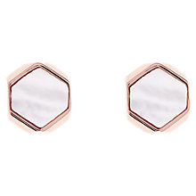 Buy Karen Millen Polyhedra Mother of Pearl Stud Earrings Online at johnlewis.com