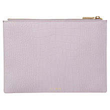 Buy Whistles Matte Croc Medium Leather Clutch Bag, Lilac Online at johnlewis.com