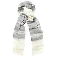 Buy Phase Eight Stripe Cotton Scarf, White Online at johnlewis.com