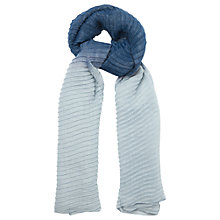 Buy Phase Eight Pleated Ombre Scarf, Navy Online at johnlewis.com