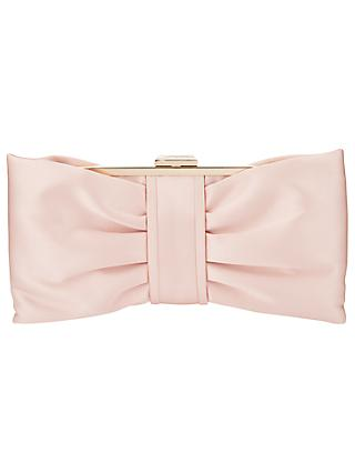 Phase Eight Suzie Satin Bow Clutch Bag