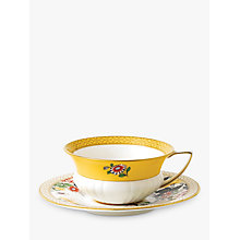 Buy Wedgwood Wonderlust Primrose Cup and Saucer Set, Multi, 180ml Online at johnlewis.com