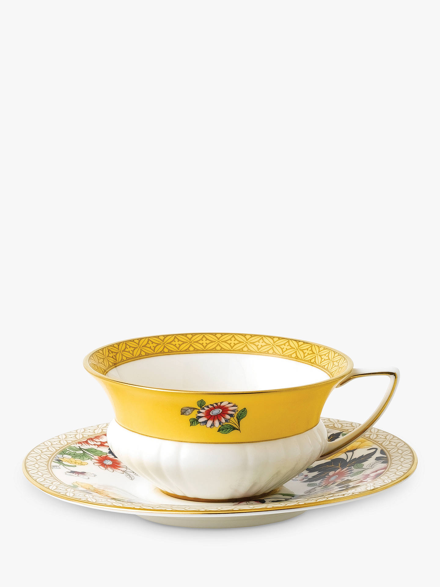 BuyWedgwood Wonderlust Primrose Cup and Saucer Set, Multi, 180ml Online at johnlewis.com