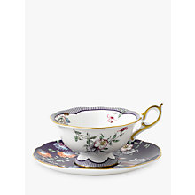 Buy Wedgwood Wonderlust Midnight Crane Cup and Saucer Set, Multi, 180ml Online at johnlewis.com
