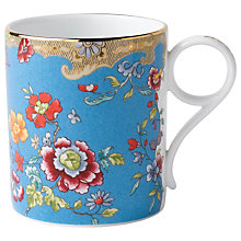 Buy Wedgwood Turquoise Floral Mug, Small Online at johnlewis.com