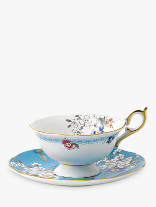 Buy Wedgwood Wonderlust Apple Blossom Cup and Saucer Set, Multi, 180ml Online at johnlewis.com