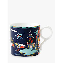 Buy Wedgwood Wonderlust Pagoda Large Mug, Blue, 270ml Online at johnlewis.com