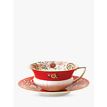 Buy Wedgwood Wonderlust Orient Cup and Saucer Set, Crimson, 180ml Online at johnlewis.com