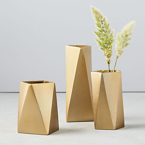 Buy west elm Brass Jewellery Vase, Small Online at johnlewis.com